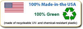 100% Recyclable Green Product Made in the USA
