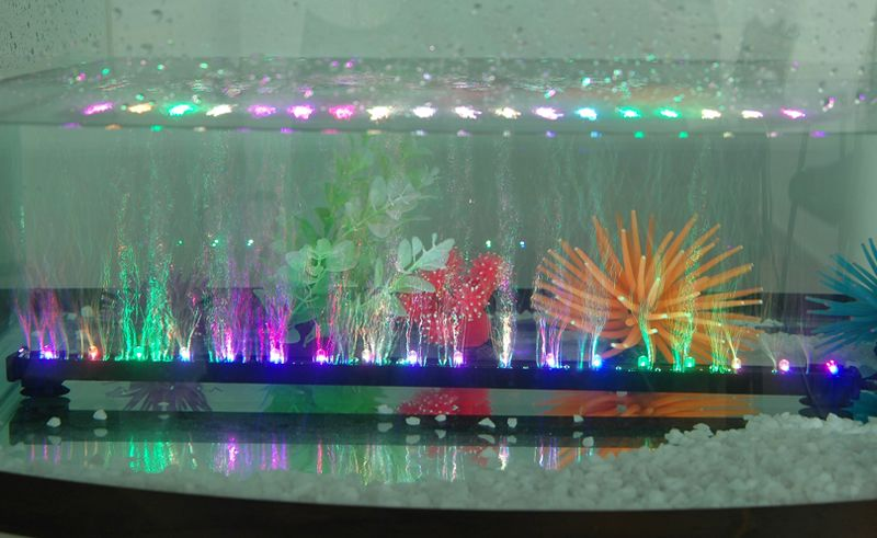 neu 6 12 18 led aquarium bubble maker unterwasser beleuchtung stab bel fter ebay. Black Bedroom Furniture Sets. Home Design Ideas