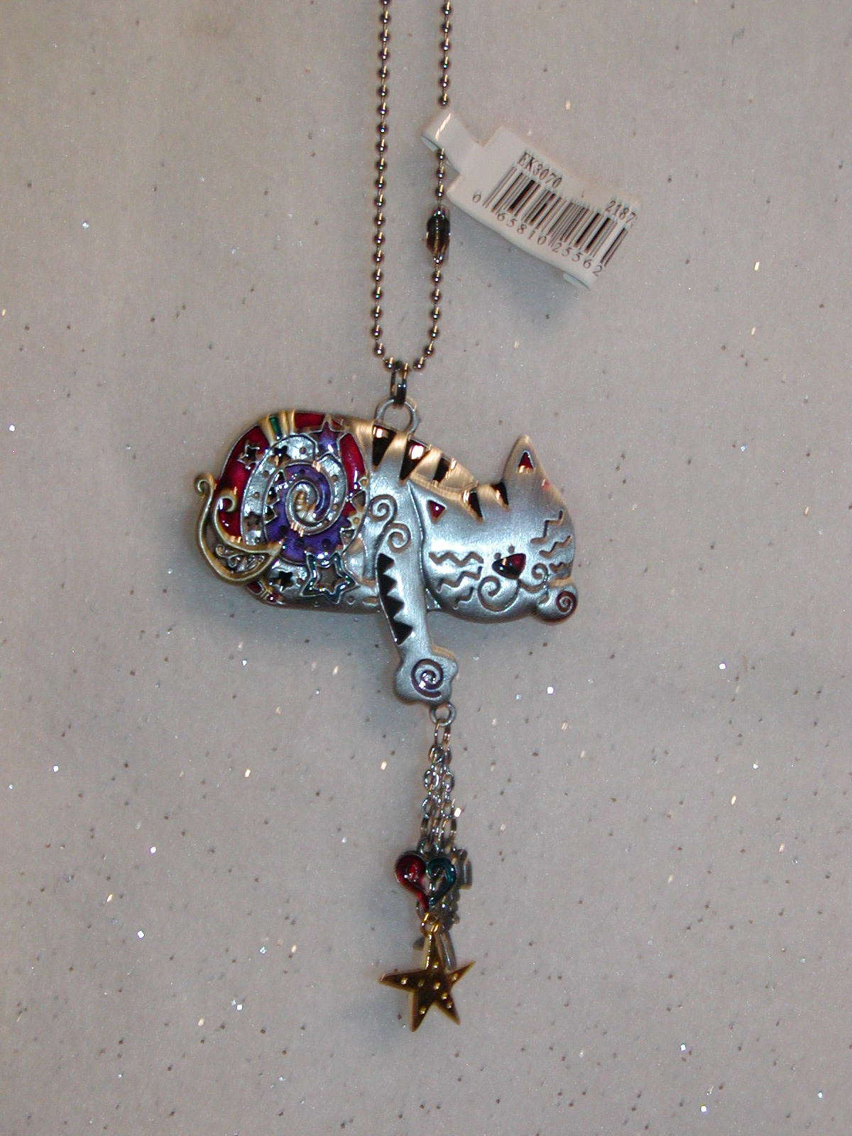 CAT-CAR-MIRROR-CHARMS-COLORED-CAT-NEW-GANZ-CHARM
