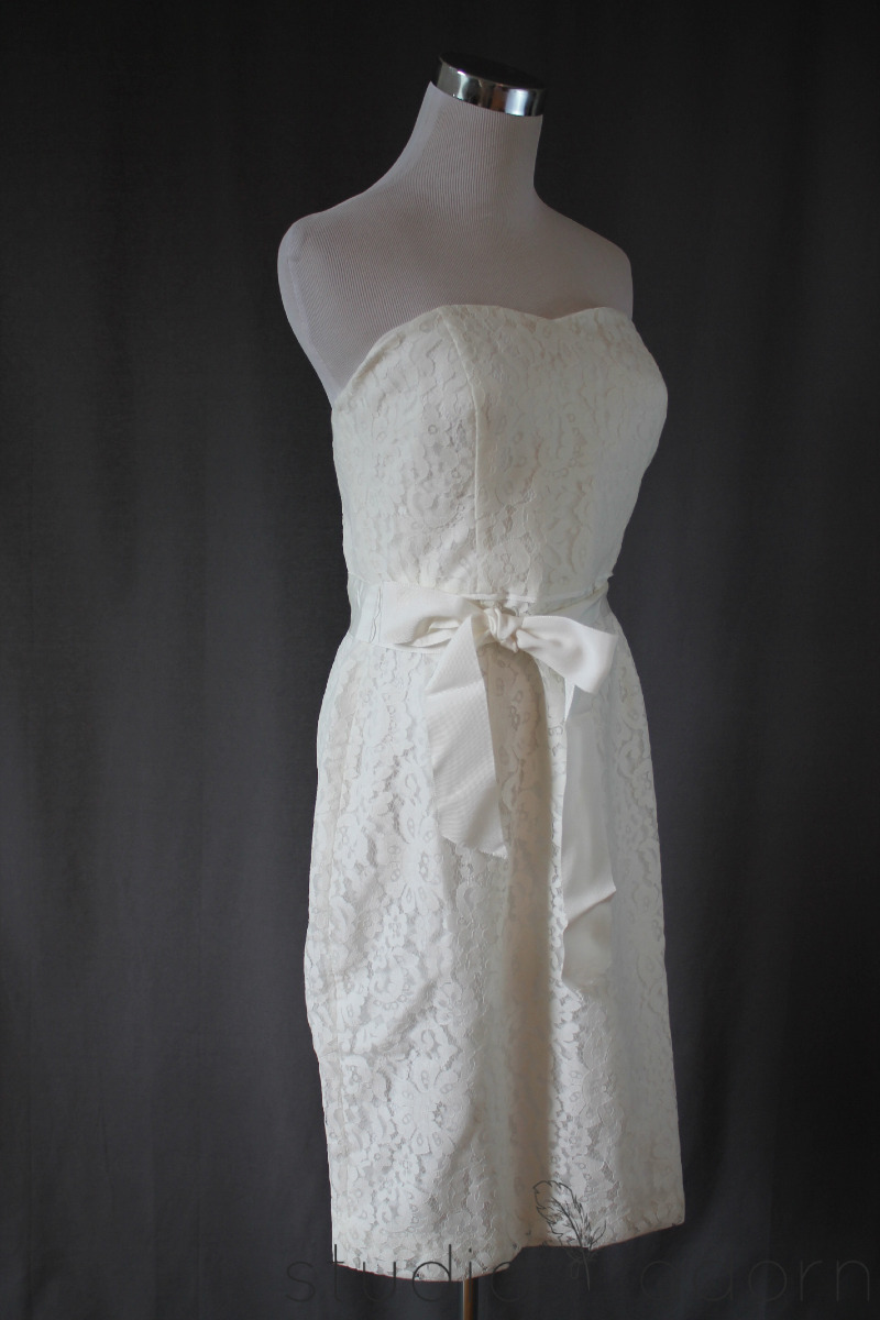 298 j crew collection laura lace dress 8 ivory bridal for J crew short wedding dresses