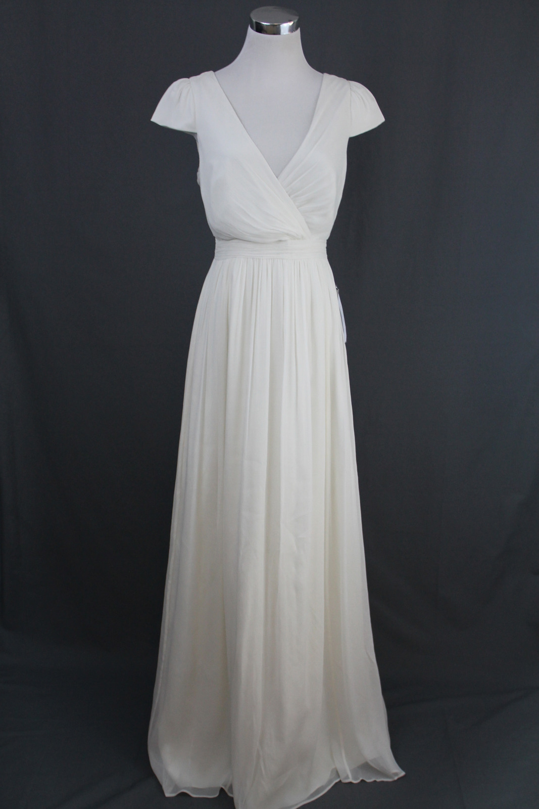 j crew wedding dress NEW J Crew Silk Chiffon Mirabelle Gown Ivory NWT Bridal Wedding main image