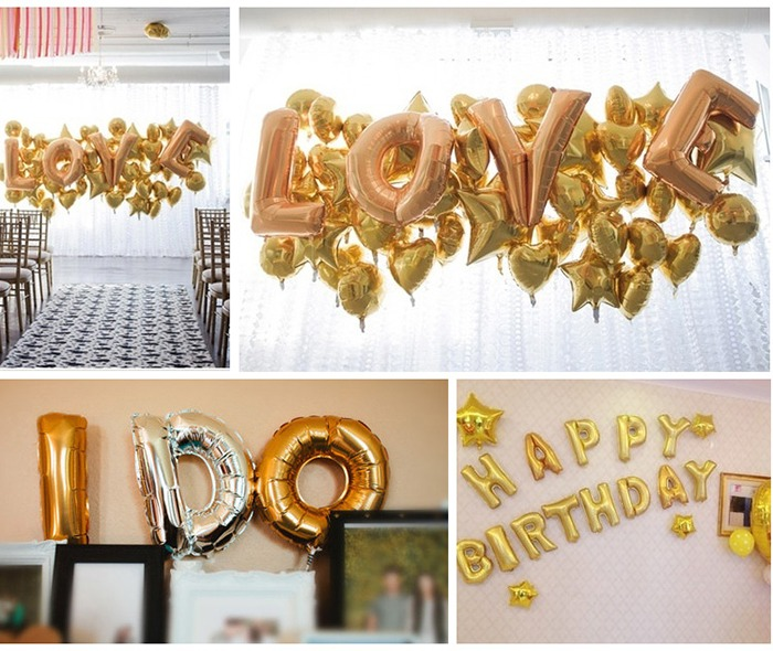 gold silver 14 40 letter number foil balloonsbirthday party decorations ebay. Black Bedroom Furniture Sets. Home Design Ideas