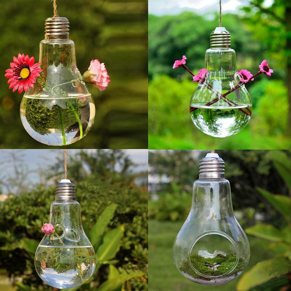 Favorit Hanging Forme Ampoule verre Vase Fleur Plante en pot Container  ZD85