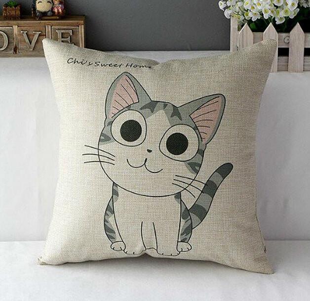 Home Sofa Decor Cute Pattern Cushion Cover Cotton Linen Throw Pillow Cases : eBay