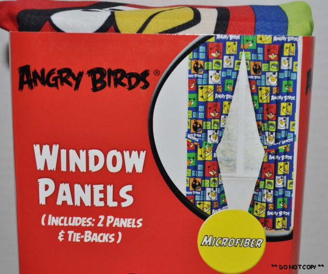NEW ANGRY BIRDS WINDOW CURTAINS PANELS DRAPES KIDS ROOM | eBay