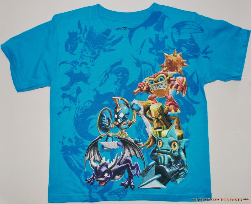 BOYS-SKYLANDERS-SPYROS-ADVENTURE-WHAM-SHELL-T-SHIRT-4-5-6-7-8-10-12-14-16