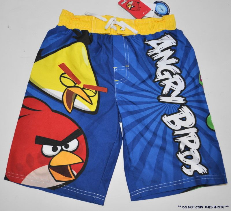 NEW-BOYS-ANGRY-BIRDS-SWIM-TRUNKS-SWIMMING-SHORTS-SIZE-4-5-6-7-8-or-10-12