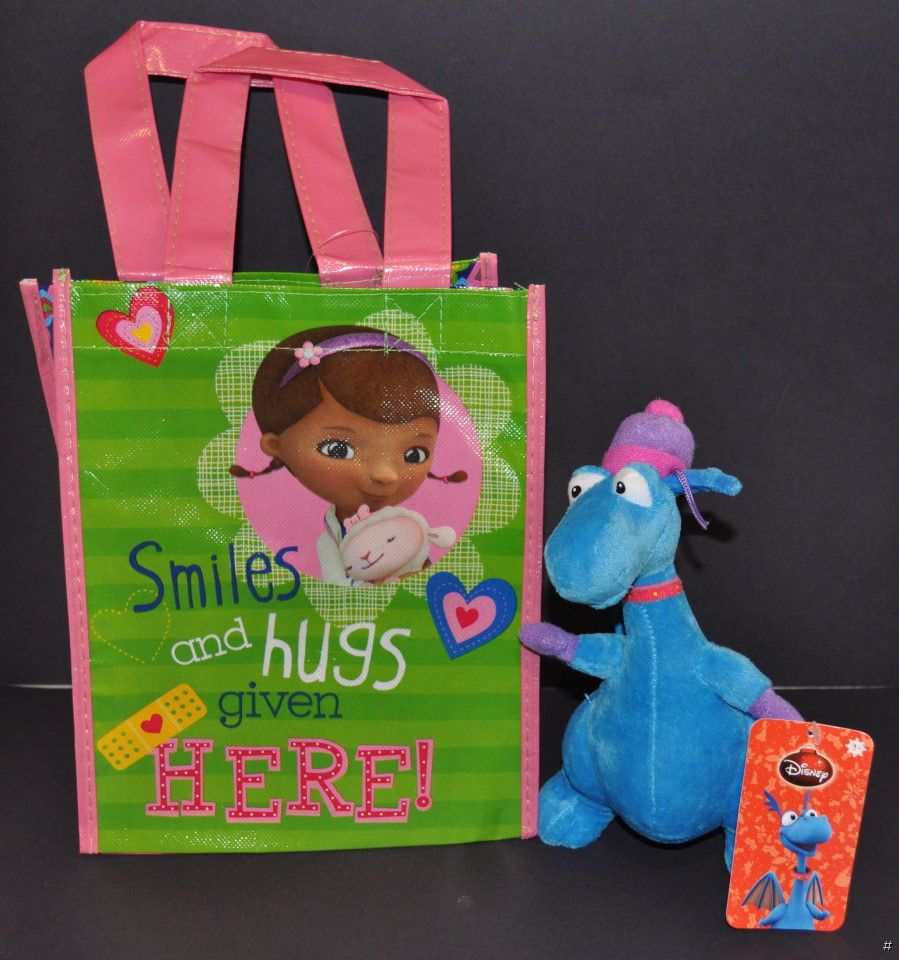 NEW-DISNEY-DOC-MCSTUFFINS-STUFFY-8-CHRISTMAS-HOLIDAY-PLUSH-GIFT-BAG-SOFT-TOY