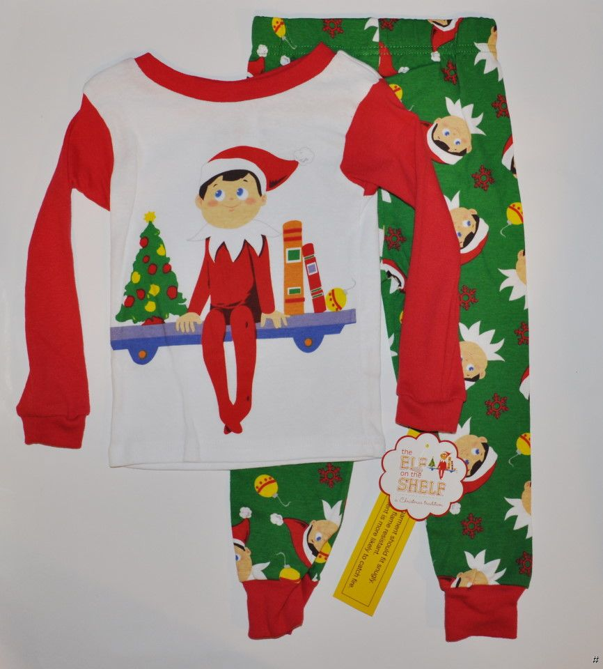 new boys girls the elf on the shelf pajamas christmas pjs. Black Bedroom Furniture Sets. Home Design Ideas