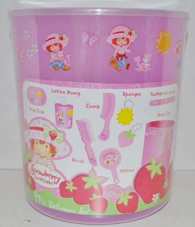 New strawberry shortcake 9pc bathroom bath set ebay for New bathroom set
