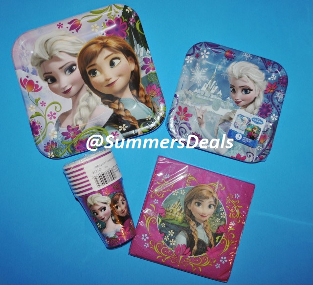 Disney Frozen Birthday Party Supplies Elsa Anna Plates