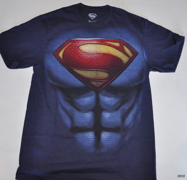 New superman man of steel logo chest t shirt size extra for Man of steel t shirt online