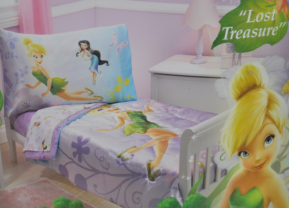 New Disney Tinkerbell Fairies 7pc Toddler Bedding Set