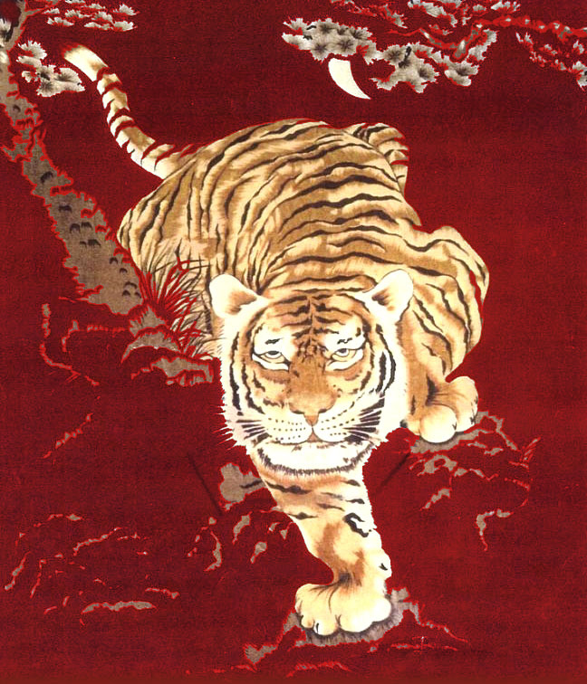 Ann's Trading Co. Inc. Crouching Mountain Tiger Soft Blanket Full/Queen Size Burgundy at Sears.com