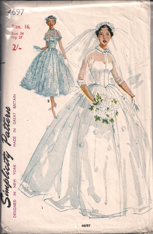 Vintage Bridal Gown Sewing Patterns