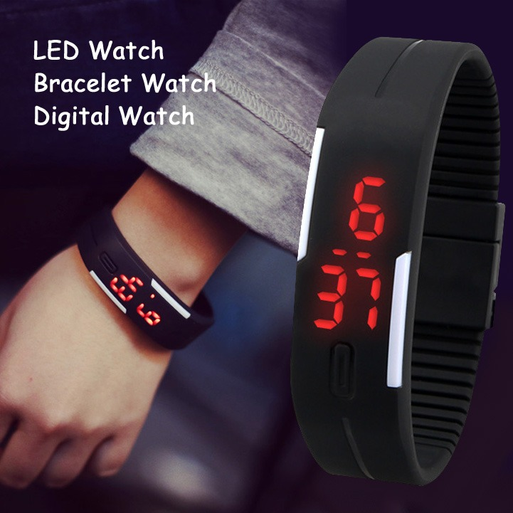 new mens womens rubber red led watch date sports bracelet digital new mens womens rubber red led watch date sports bracelet digital wrist watch