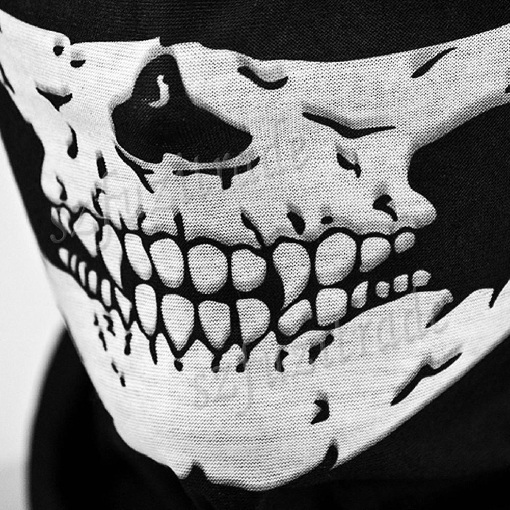 Skull Face Shield Hood Bandana Neck Scarf Ghost Biker Headwear ...