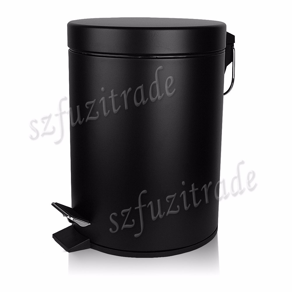3l Stainless Steel Step On Trash Can Bathroom Kitchen