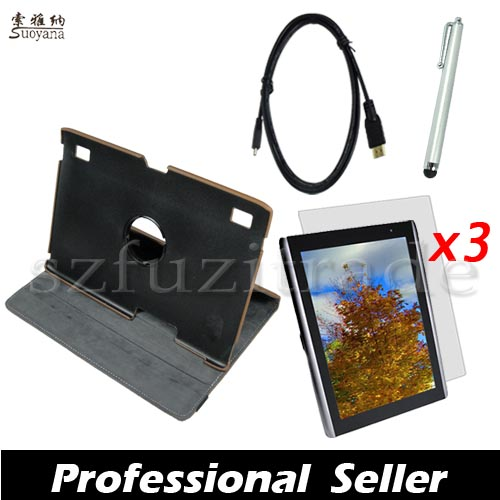 6-in1-Rotating-Leather-Case-Stylus-Micro-HDMI-Film-For-Acer-Iconia-Tab-A500-A501