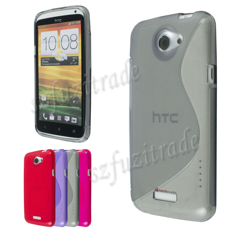 Grey-TPU-Gel-RUBBER-CASE-COVER-Protector-Pouch-For-HTC-ONE-X-ONEX-XL-AT-T-S720e
