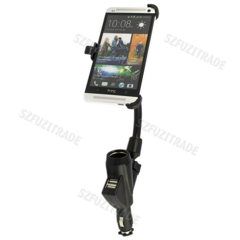 2-1-Long-Car-Cigarette-Lighter-Mount-Holder-Dual-USB-Port-Charger-For-HTC-ONE-M7