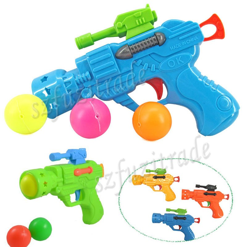 Funny children table tennis balls ping pong ball gun kids for Ptable games