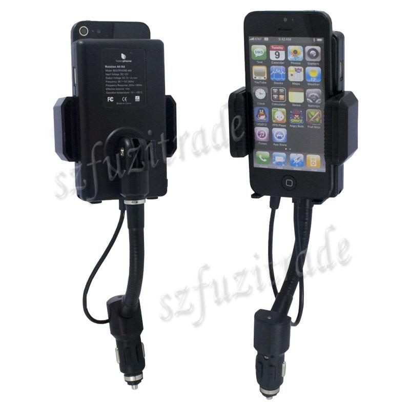 usb chargeur de voiture allume cigare support transmetteur fm pour iphone 5 4 4s ebay. Black Bedroom Furniture Sets. Home Design Ideas