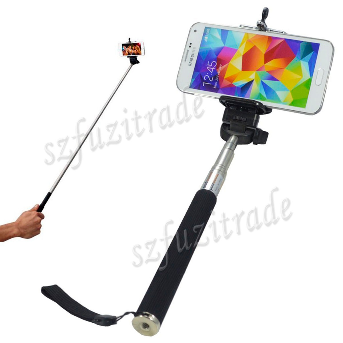 retractable handy stick selfie holder mount monopod for camera iphone 6s 6 plus ebay. Black Bedroom Furniture Sets. Home Design Ideas