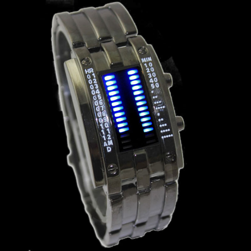 Cool-Stainless-BLUE-LED-Mens-Sports-Military-Wristwatch-Watch-New