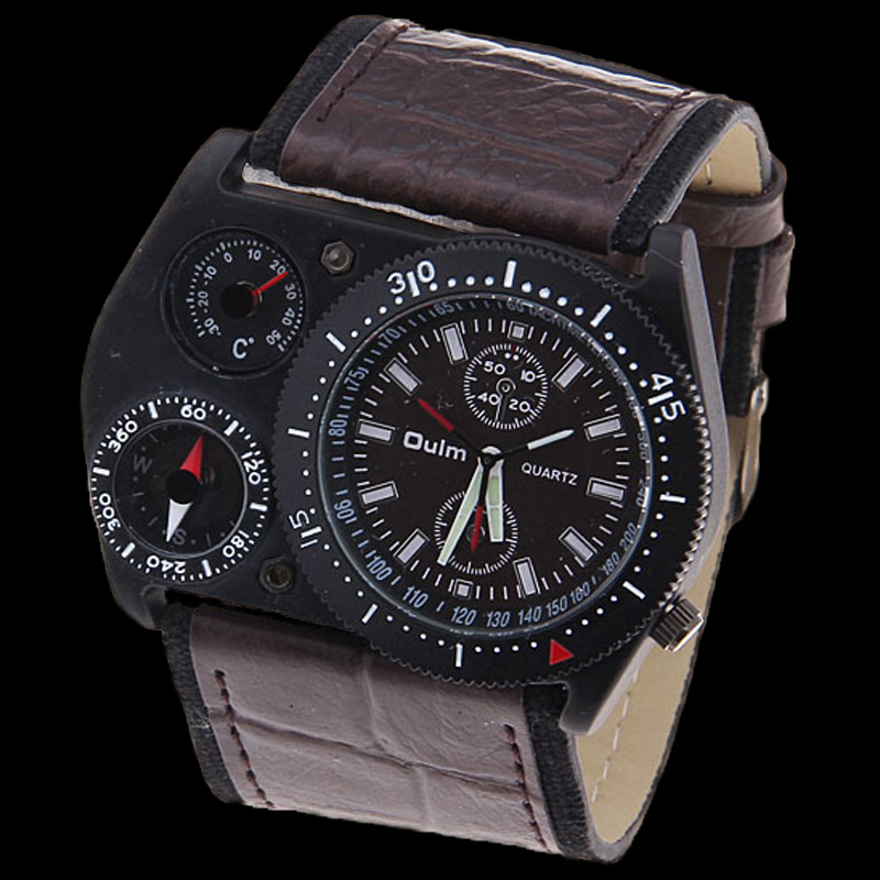 Fashion-Quartz-Mens-Military-ThermometerOutdoor-Sports-Watch-New