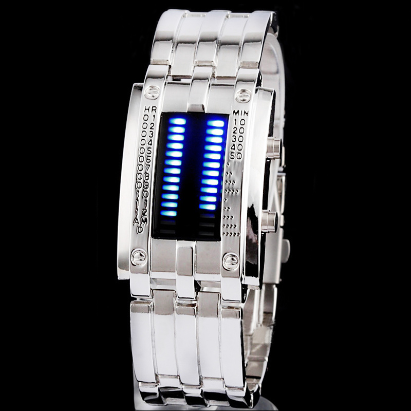 Fashion-Stainless-BLUE-LED-Mens-Sports-Military-Watch-Brand-New