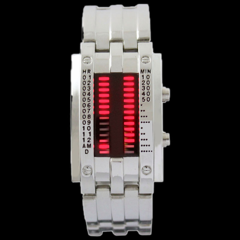 COOL-Stainless-RED-LED-Mens-Sports-Military-Watch-Gift-NEW