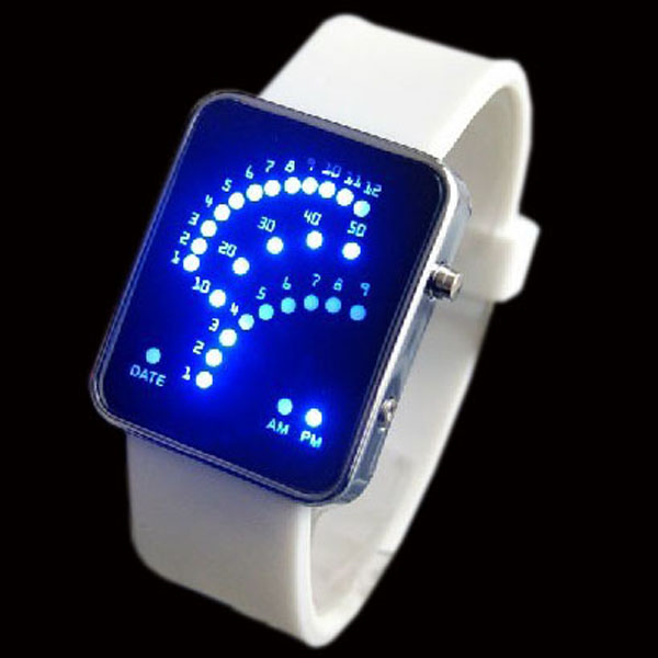Unique-Style-29-LED-Blue-Digital-Ladys-Mens-Sport-Watch-New