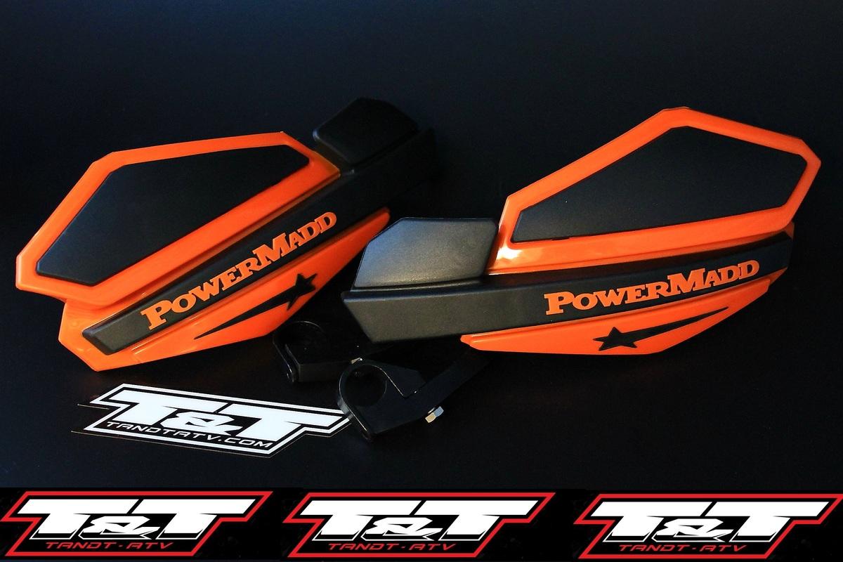 POWERMADD HANDGUARDS HONDA TRX 400EX HAND GUARDS WHITE BLACK HAND GUARD MOUNTS