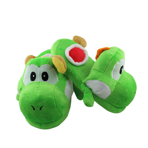 One-Pair-Super-Mario-Yoshi-Soft-Plush-Slipper