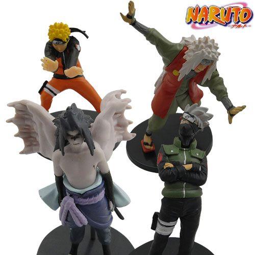 4Pcs-NARUTO-Uzumaki-Hatake-Kakashi-Figure-Set