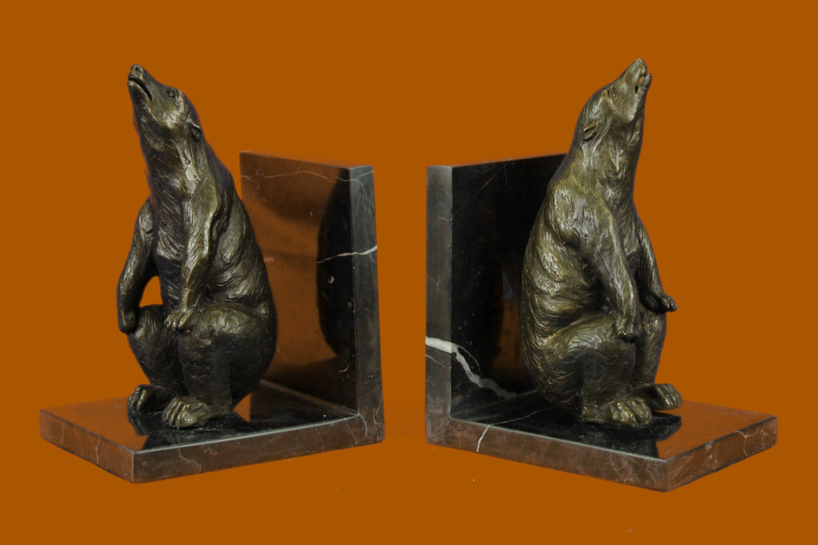 Deal Deal Bronze Sculpture Statue Signed Pair Unique