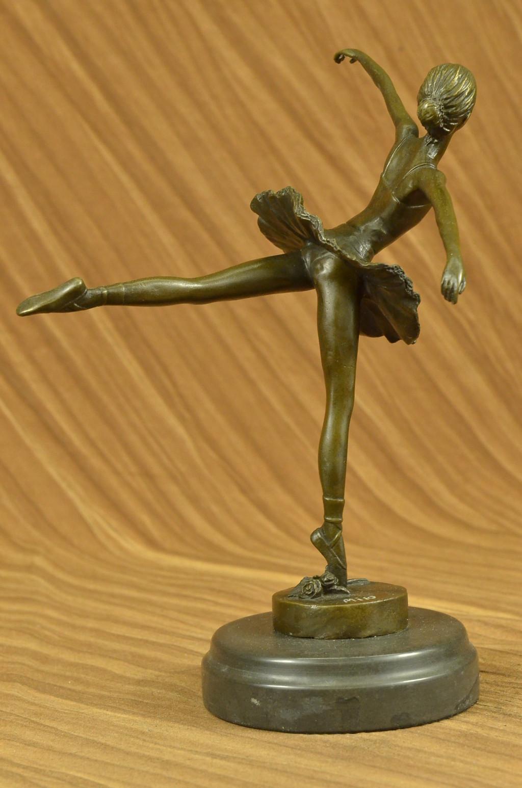 original signed ballerina in tutu bronze sculpture art nouveau deco figurine nr ebay. Black Bedroom Furniture Sets. Home Design Ideas