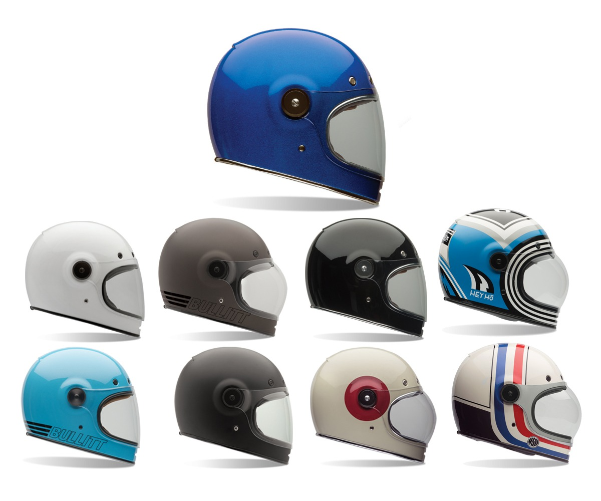 Motorcycle Helmets And Jackets FAST SHIPPING* Bell Bullitt Retro Motorcycle Helmet (Black, Triple ...