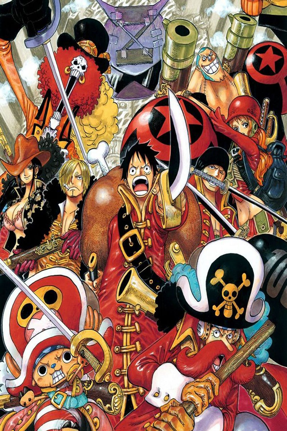 one piece luffy seven sea japan anime wall silk cloth poster 36