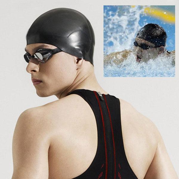 Stylish-Flexible-Light-Durable-Sporty-Latex-Swim-Swimming-Cap-Bathing-Hat-Black
