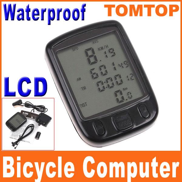 LCD-Cycling-Bike-Bicycle-Computer-Odometer-Waterproof-Speedometer-24-Functions