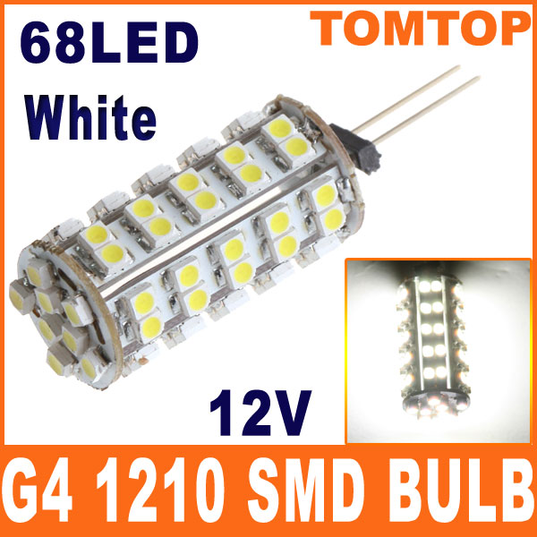G4-White-1210-SMD-68-LED-Light-Home-Car-RV-Marine-Boat-Lamp-Bulb-DC-12V