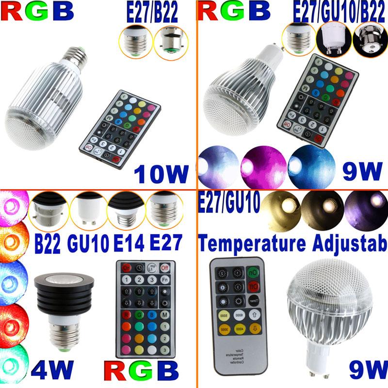 4W-9W-10W-E14-GU10-B22-E27-RGB-LED-Light-Adjustable-Bulb-Lamp-Spotlight-RC