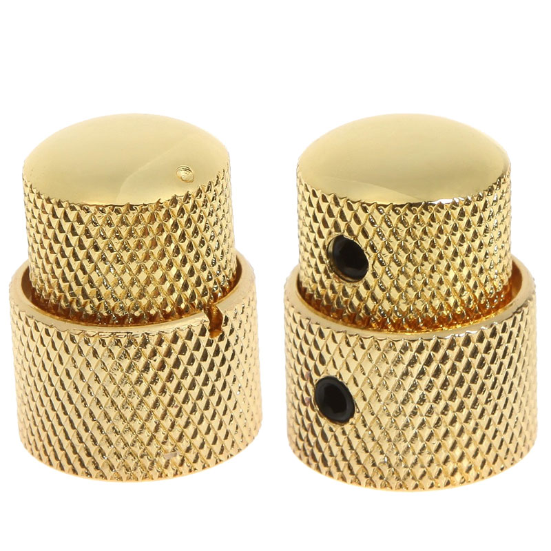 2PCS-Gold-Dual-Concentric-Volume-Tone-Blend-Control-Knob-Electric-Guitar-Parts