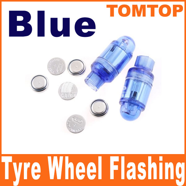 2-Car-Bicycles-motorcycle-Tyre-Wheel-Flashing-Neon-LED-Valve-Cap-Stem-Light-Blue