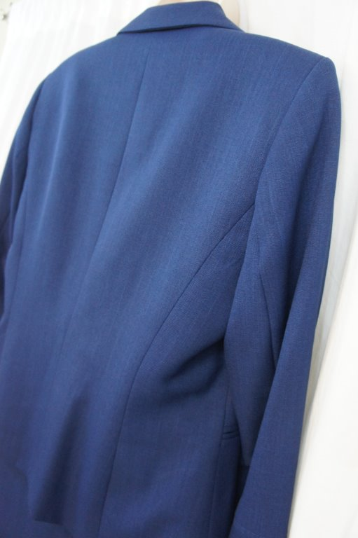 evan picone skirt suit sz 16 bright navy blue classic time
