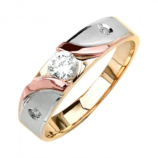 wedding rings color more tri colour russian views style