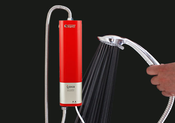 Portable Shower System : Portable electric hot water heater shower system instant