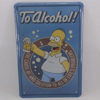 Vintage-Tin-Metal-Pub-Bar-Sign-Decor-To-alcohol-DT54